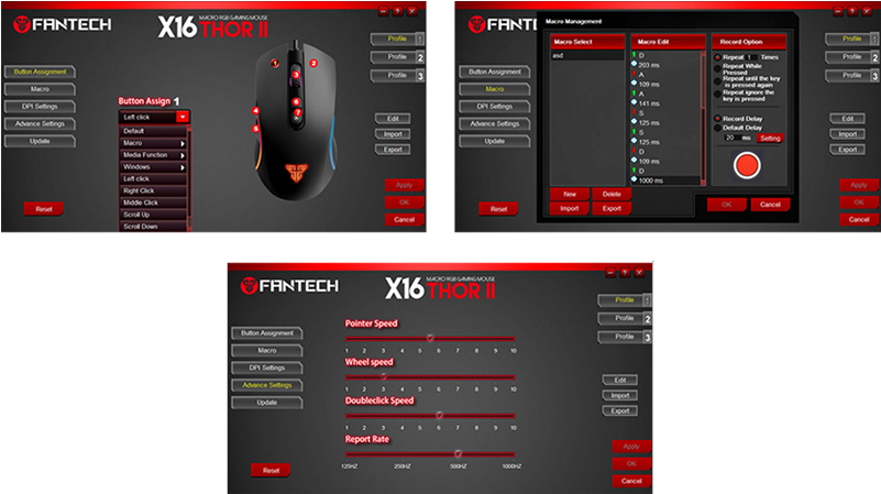 mouse gaming thor II x16 webpage 8